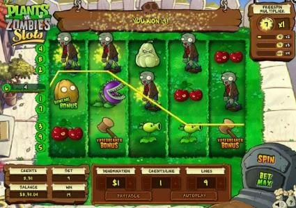 Plants vs. Zombies :: Multiple winning paylines