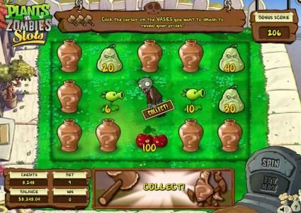 Plants vs. Zombies :: Keep smashing vases and collect prizes until you find the collect!