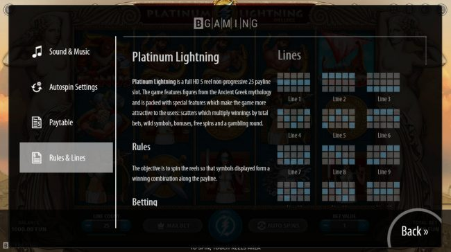 Play slots at Betwinner: Betwinner featuring the Video Slots Platinum Lightning Deluxe with a maximum payout of $8,888