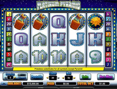TS featuring the video-Slots Platinum Pyramid with a maximum payout of $70,000