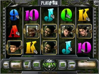 Play slots at Joe Fortune: Joe Fortune featuring the Video Slots Platoon with a maximum payout of $1,000