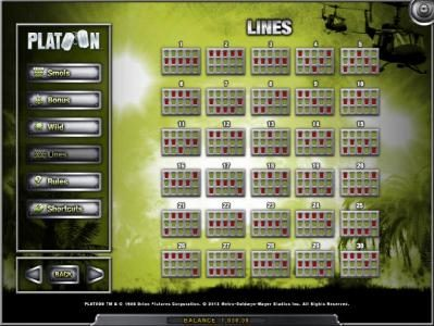 Wicked Bet featuring the Video Slots Platoon with a maximum payout of $1,000