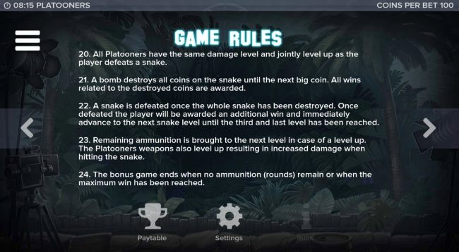 Platooners :: General Game Rules