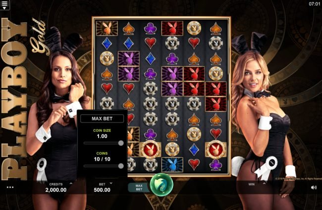 Grand Mondial featuring the Video Slots Playboy Gold Online Slot with a maximum payout of $100,000