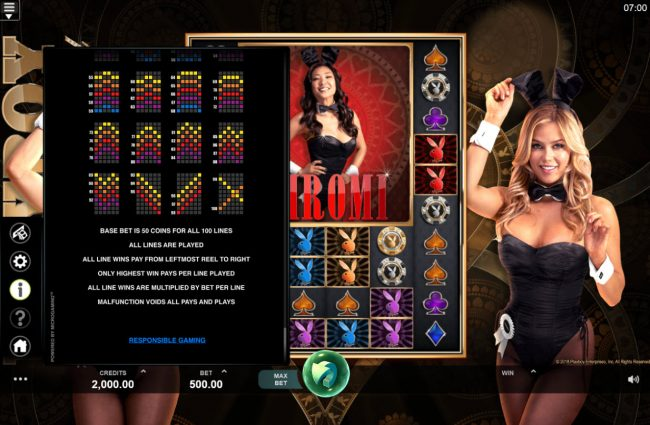 Ruby Fortune featuring the Video Slots Playboy Gold Online Slot with a maximum payout of $100,000