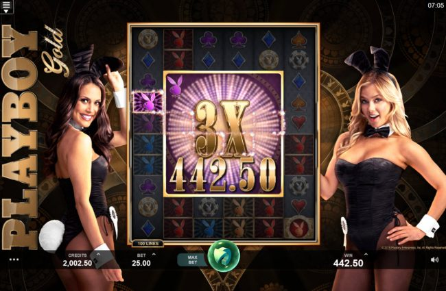Mummys Gold featuring the Video Slots Playboy Gold Online Slot with a maximum payout of $100,000