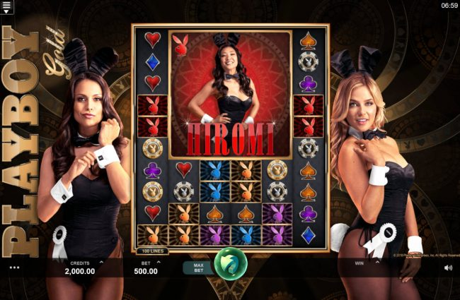 Royal House featuring the Video Slots Playboy Gold Online Slot with a maximum payout of $100,000