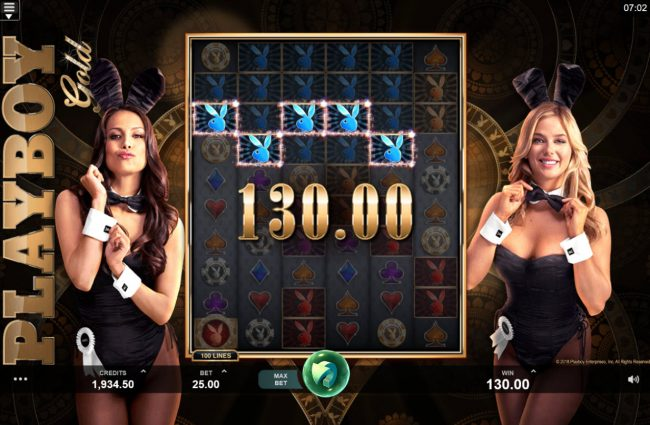 7Sultans featuring the Video Slots Playboy Gold Online Slot with a maximum payout of $100,000