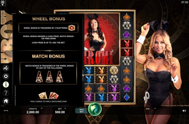 Gaming Club featuring the Video Slots Playboy Gold Online Slot with a maximum payout of $100,000