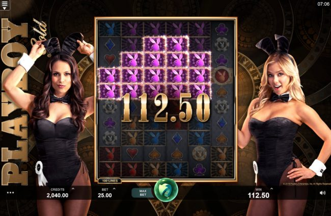 Luxury featuring the Video Slots Playboy Gold Online Slot with a maximum payout of $100,000