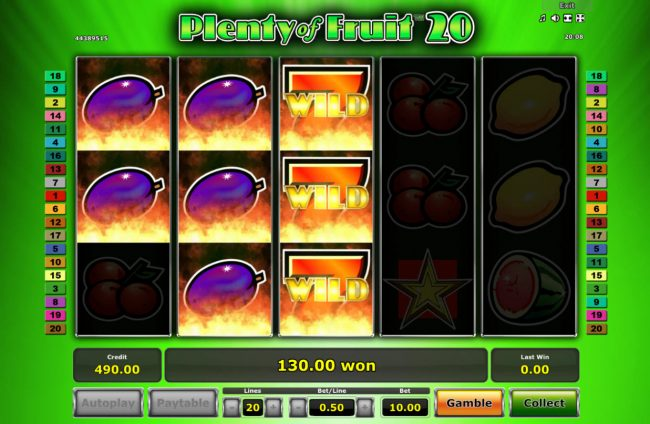 Plenty of Fruit 20 :: Multiple winning paylines