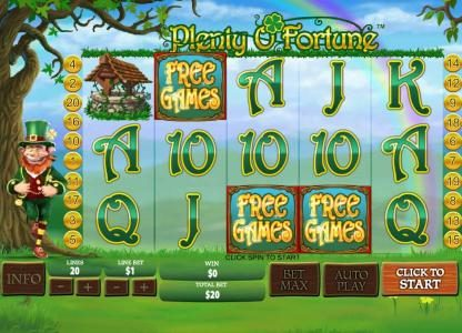 Play slots at William Hill Casino Club: William Hill Casino Club featuring the Video Slots Plenty O' Fortune with a maximum payout of $25,000