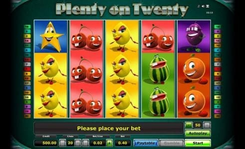 Energy featuring the Video Slots Plenty on Twenty with a maximum payout of $50,000