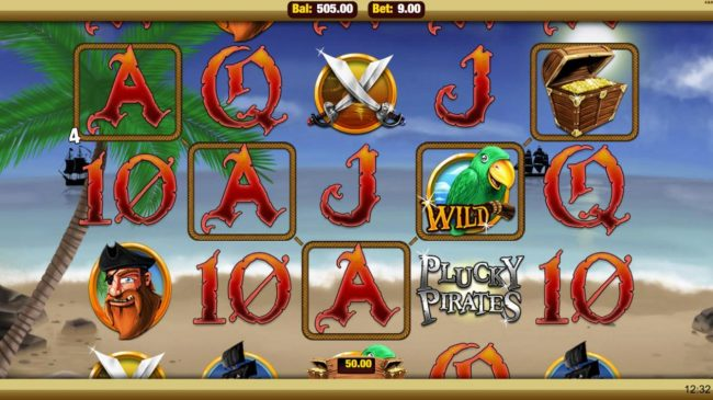Mobireels featuring the Video Slots Plucky Pirates with a maximum payout of $22,500