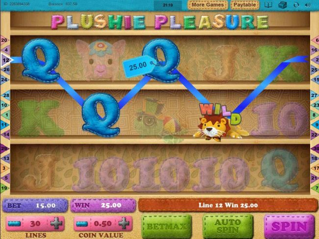 My Touch featuring the Video Slots Plushie Pleasure with a maximum payout of $5,000