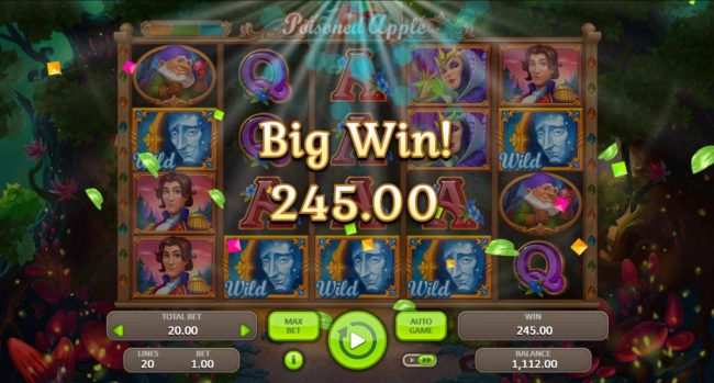 Poisoned Apple :: Mirror wild feature leads to a 245.00 jackpot award