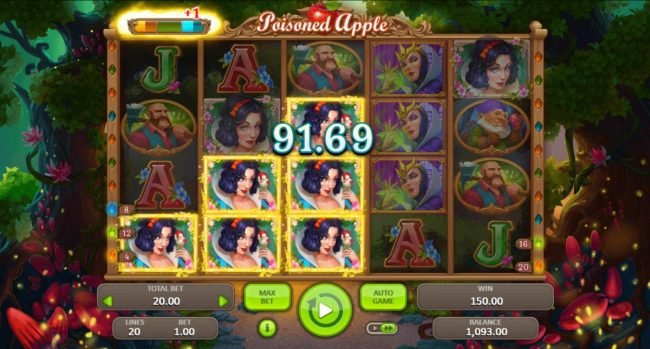 Poisoned Apple :: Achieving a goal will add 1 to the Free Spins meter