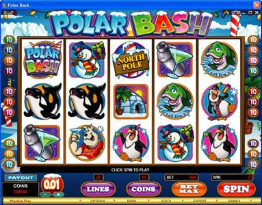 Play slots at Cinema: Cinema featuring the Video Slots Polar Bash with a maximum payout of $60,000