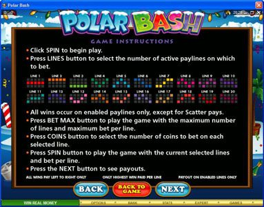 Zodiac featuring the Video Slots Polar Bash with a maximum payout of $60,000