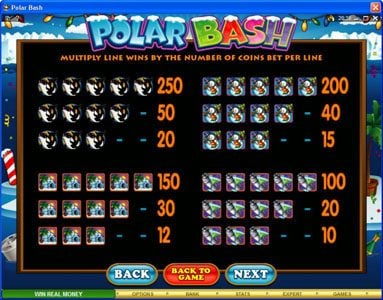 Casino Action featuring the Video Slots Polar Bash with a maximum payout of $60,000