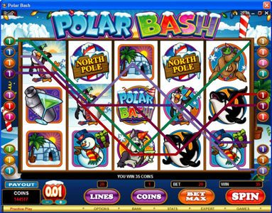 Play Hippo featuring the Video Slots Polar Bash with a maximum payout of $60,000