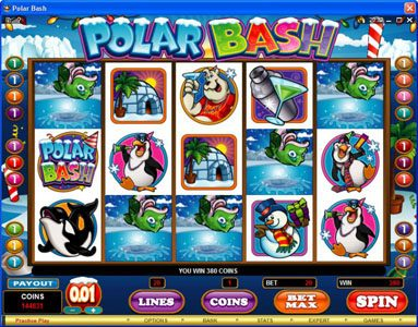 Play slots at Spin Hill: Spin Hill featuring the Video Slots Polar Bash with a maximum payout of $60,000