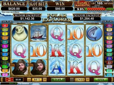 Ignition featuring the Video Slots Polar Explorer with a maximum payout of $250,000
