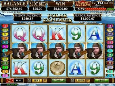 Kudos featuring the Video Slots Polar Explorer with a maximum payout of $250,000