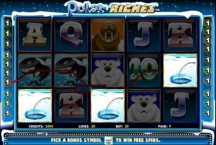 pick a bonus symbol to win free spins