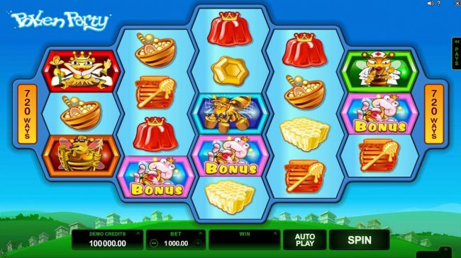 Play slots at Lucky Emperor: Lucky Emperor featuring the Video Slots Pollen Party with a maximum payout of $440,000