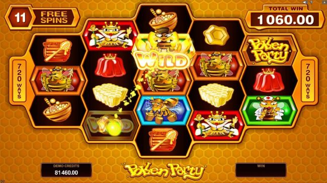 Vegas Slot featuring the Video Slots Pollen Party with a maximum payout of $440,000