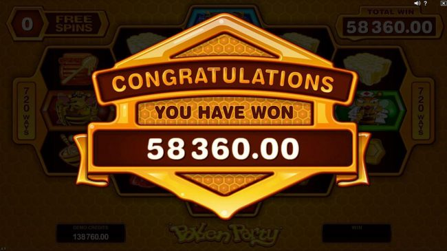Noxwin featuring the Video Slots Pollen Party with a maximum payout of $440,000