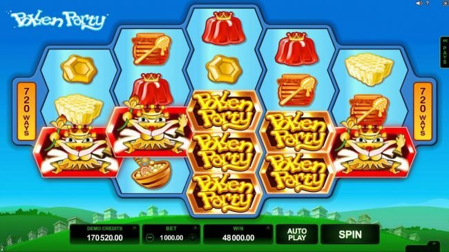 21 Jackpots featuring the Video Slots Pollen Party with a maximum payout of $440,000