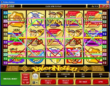 Energy featuring the Video Slots Pollen Nation with a maximum payout of $30,000