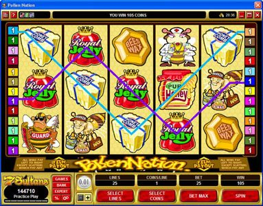 Play slots at Players Palace: Players Palace featuring the Video Slots Pollen Nation with a maximum payout of $30,000