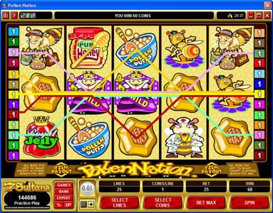 Norskespill featuring the Video Slots Pollen Nation with a maximum payout of $30,000