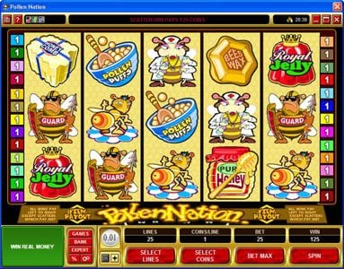 Wixstars featuring the Video Slots Pollen Nation with a maximum payout of $30,000