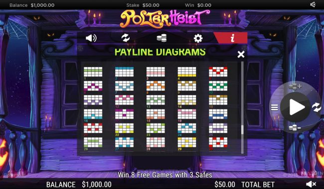 Deuce Club featuring the Video Slots Polterhiest with a maximum payout of $250,000