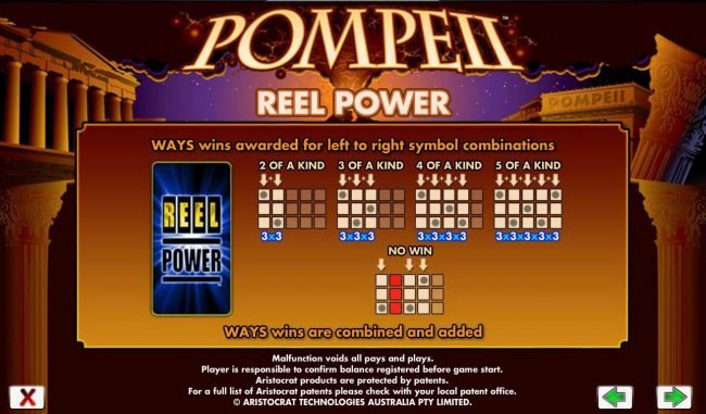 Pamper featuring the Video Slots Pompeii with a maximum payout of