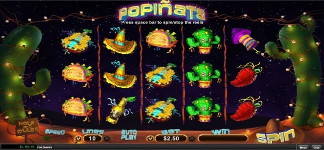 Slots of Vegas featuring the Video Slots Popinata with a maximum payout of $12,500