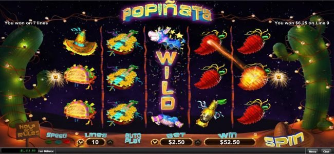 Club Player featuring the Video Slots Popinata with a maximum payout of $12,500