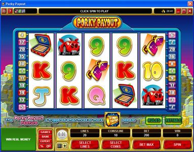 Play slots at Spin Palace: Spin Palace featuring the Video Slots Porky Payout with a maximum payout of $150,000