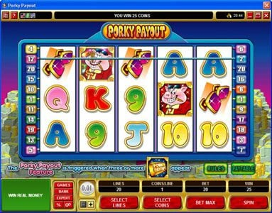 All British featuring the Video Slots Porky Payout with a maximum payout of $150,000
