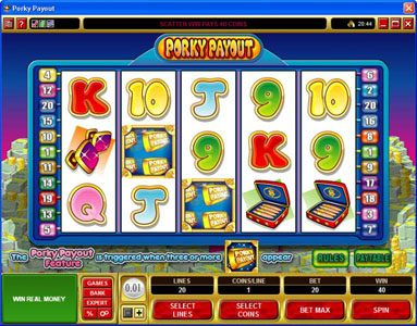 King Neptunes featuring the Video Slots Porky Payout with a maximum payout of $150,000