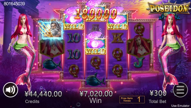 Cyber Spins featuring the Video Slots Poseidon with a maximum payout of $2,880,000