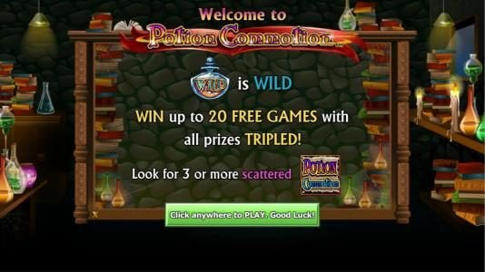 Play slots at Northern Lights: Northern Lights featuring the Video Slots Potion Commotion with a maximum payout of $10,000