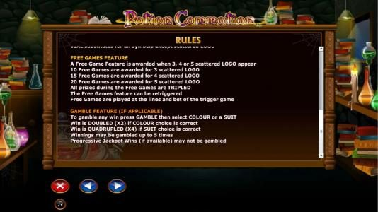 Chomp featuring the Video Slots Potion Commotion with a maximum payout of $10,000