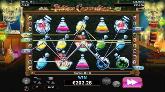 Boo Casino featuring the Video Slots Potion Commotion with a maximum payout of $10,000
