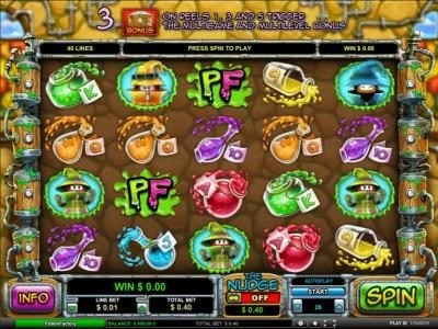 Play slots at JVSpin: JV Spin featuring the Video Slots Potion Factory with a maximum payout of $5,000