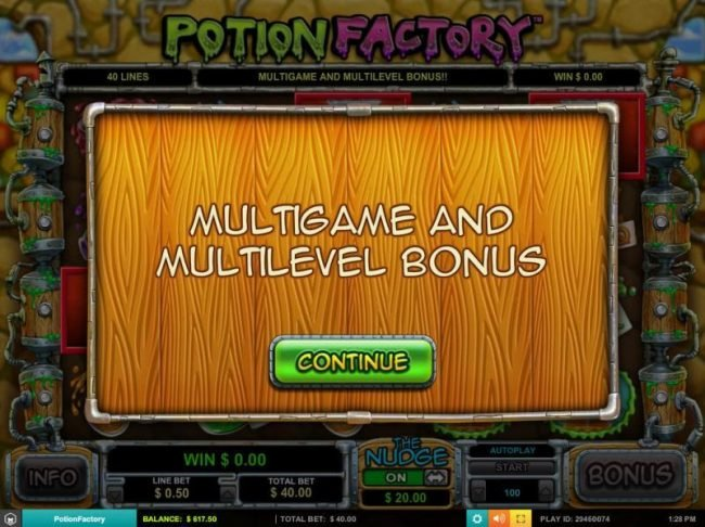 Norskespill featuring the Video Slots Potion Factory with a maximum payout of $5,000